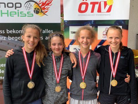 Die Doppel Finalisten: Emma, Emma Leitner, Johanna Hiesmair und Theresa Stabauer